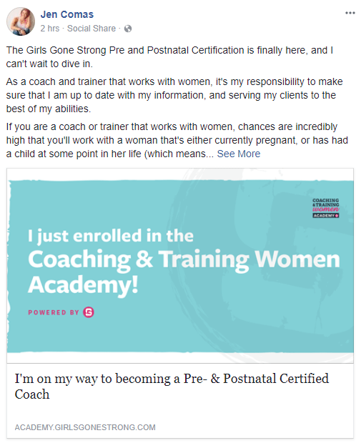 Welcome to the Coaching & Training Women Academy